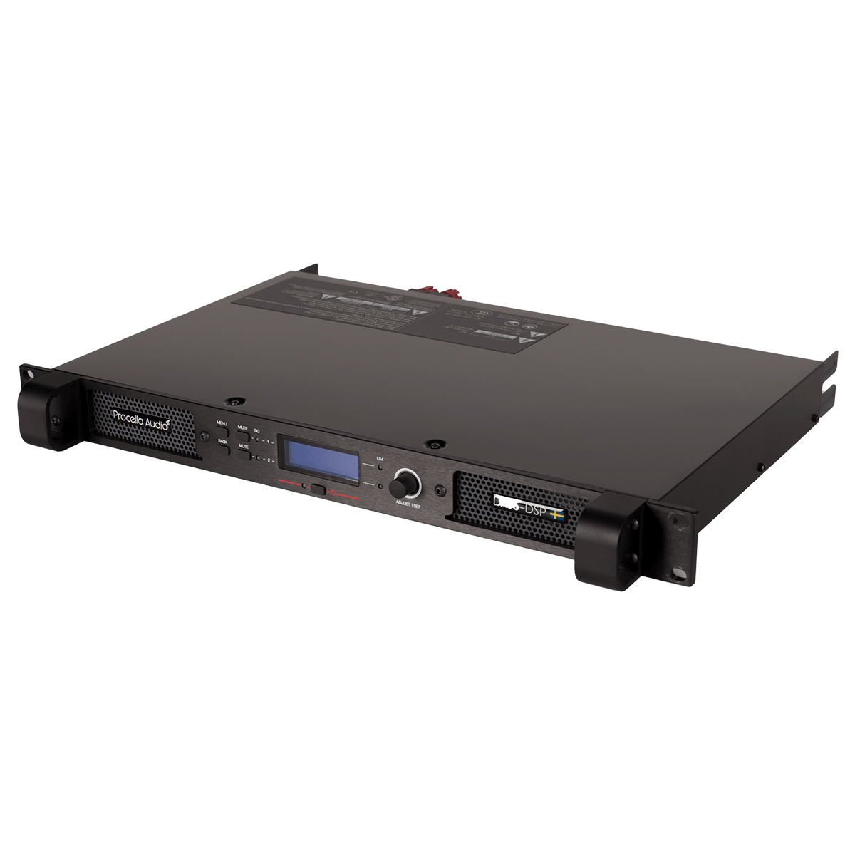 Procella Audio Da06 Dsp Amplifier With Factory Programmed Presets Laptop Da05 Front Side View Right