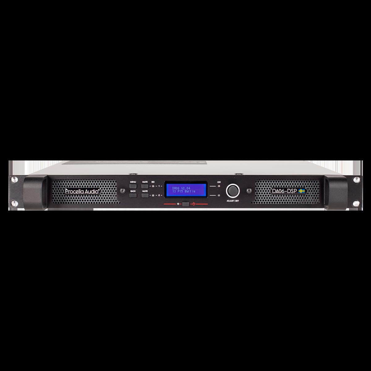 Procella DA06-DSP front view with preset 1200×1200