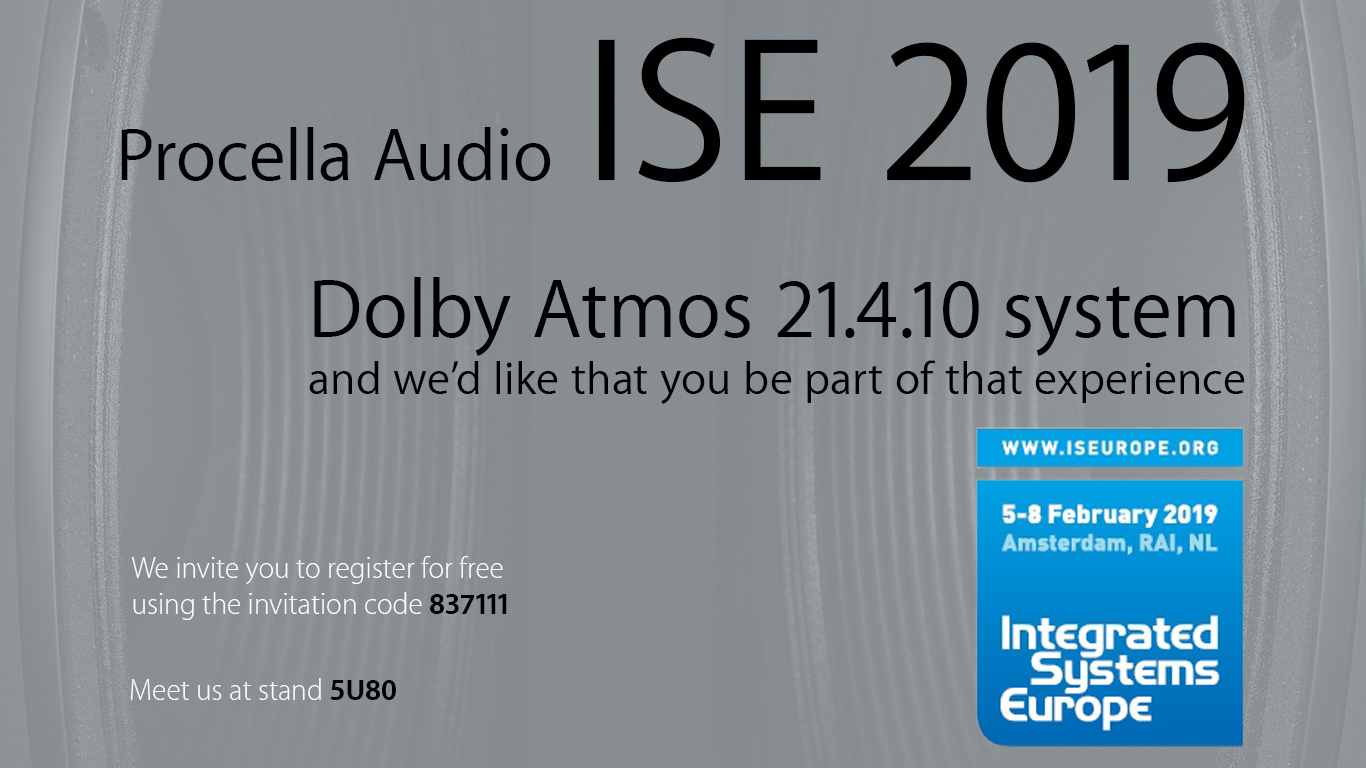 ISE 2019 Procella Audio cinematic experience - Procella Speakers