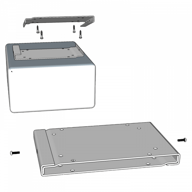 Ceiling mount bracket assembly